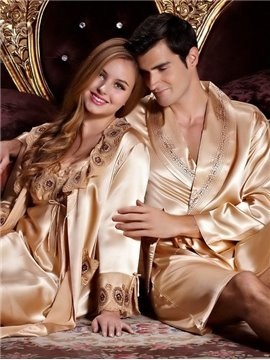 New Arrival Elegant Wedding Couple Sleepwear for Man