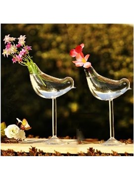 Unique High Heel Bird Shape Home Decorative Glass Vase