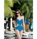 Sexy Hollowed Push-up Swimsuit with Falsies One-piece Push-up Monokini