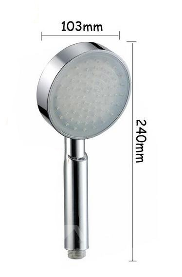 7 Colors LED Chrome Finish Hand Shower Head