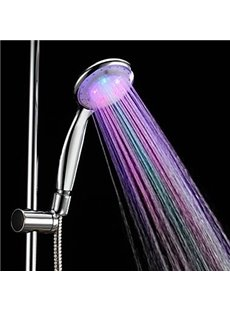 7 colors led chrome finish hand shower without shower holder