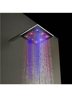 8 inches 7 colors changing led chrome finish shower head