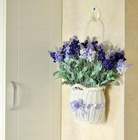Graceful Lavender Hanging Flower Basket