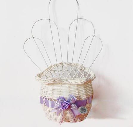 Graceful Lavender Hanging Flower Basket