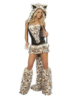 Sexy Frisky Cat Kitty Leopard Print Complete Costume YM240