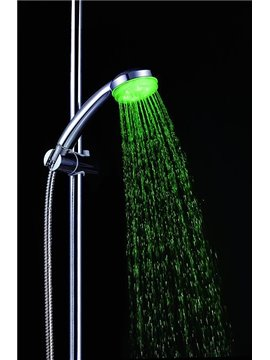 Cheap color Changing LED   Chrome Finish A Grade ABS  Hanldheld Shower head