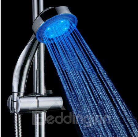beautifully color temperature Changing LED  A Grade ABS Chrome Finish  Hanldheld Shower head