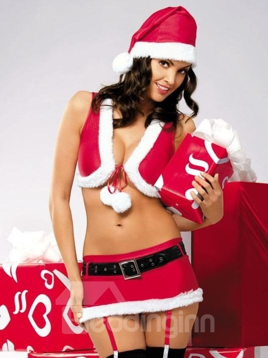 New Seductive 4pc Christmas Costumes