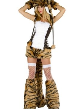Plus Size Sabertooth Sexy Charming Complete Costume