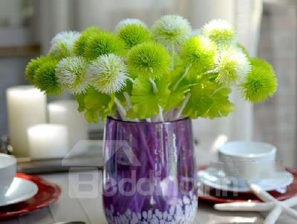 New Arrival A Bunch of 10 Green and White Plastic Dandelions
