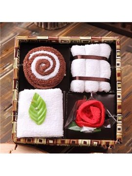 New Arrival Gift Box Style Gift 5-Piece Towel Sets