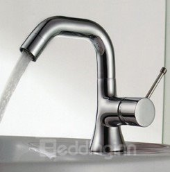 High End Kitchen Faucets : High-end Single Handle One-hole Brass Chrome Finish Bathroom/Kitchen ...