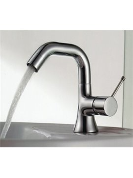 High-end Single Handle One-hole Brass Chrome Finish Bathroom/Kitchen Sink Faucet
