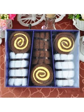 New Arrival Cute Cake Style Creative Gift Towel Sets(9 Hand Towels)
