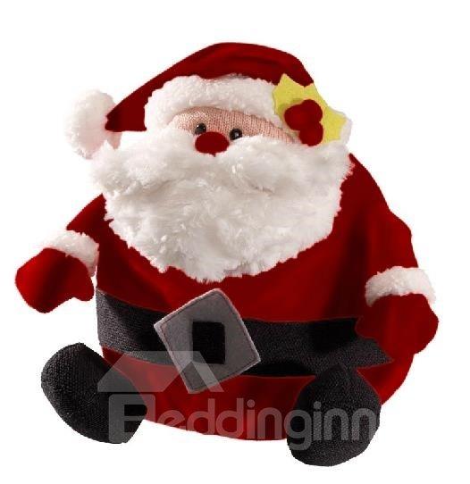 New Arrival Christmas Gift Hairy Fabrics Santa Claus Stuffed Toy