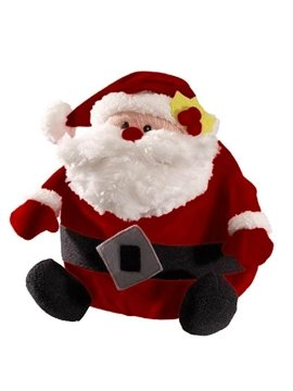 New Arrival Christmas Gift Hairy Fabrics Santa Claus Stuffed Toy