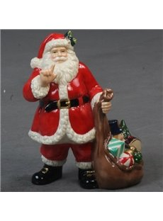 Best Selling Porcelain Christmas Decorative Artware  Santa Claus Artwork