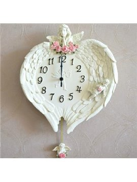 new arrival european style lovely cupid wing design wall clock