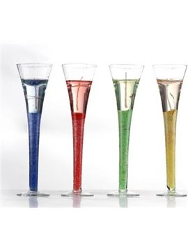 New Arrival Elegant Tall Champagne Glass Design Candle Hodler Sets