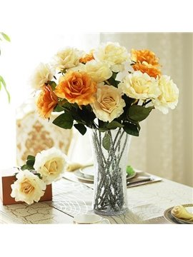 New Arrival A Single Spray of Top Grade Elegant Big Decorative Rose Artificial Flowers