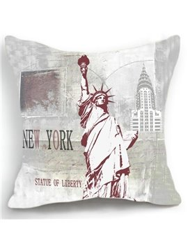 New Arrival American New York Statue of Liberty Print Throw Pillow