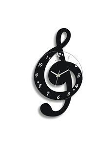 Creative Colorful Musical Note Design Wall Clock