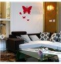 Modern Design Black Beautiful Butterfly Shape Wall Clock