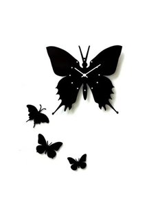 New Arrival Modern Style Beautiful Butterfly Design Wall Clock