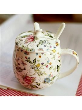 New Arrival Beautiful Small Flowers and Leaves Design Coffe Cup Sets