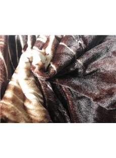 New Arrival High Quality Stunning Tiger Pirnt Mink Cashmere-Like Material Thick Blanket