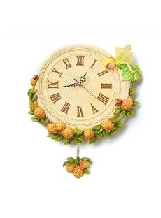 New Arrival European Style Cute Yellow Flower Fairy Design Wall Clock