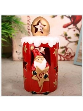 New Arrival Lovely Christmas Santa and Letters Design Candle Holder