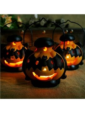 New Arrival Cute Halloween Bats Pumpkin Lantern Design Candle Holder