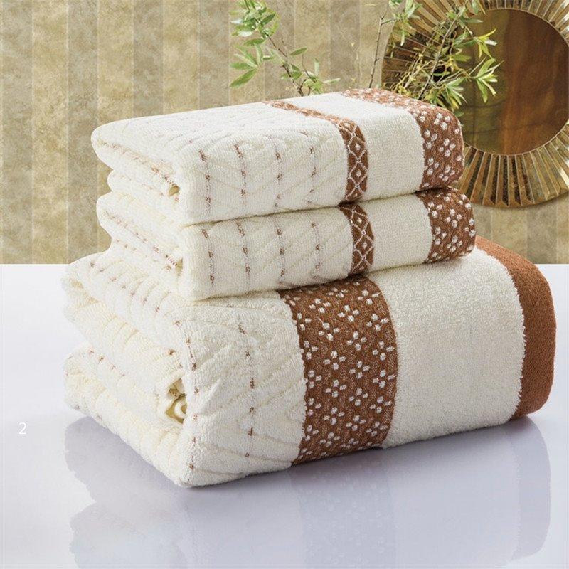 New Arrival 100% Cotton Elegant Floral Borders Simple Design Towel