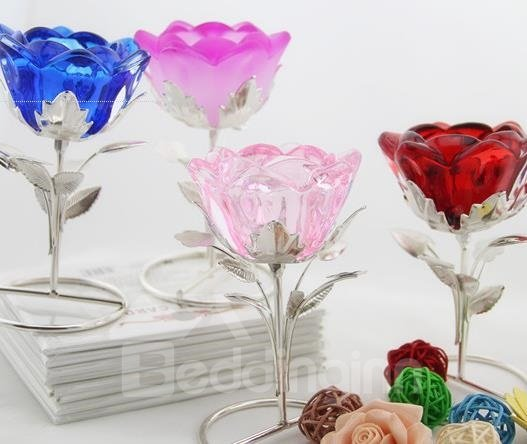 New Arrival Beautiful Rose Design Iron-made Candle Holder
