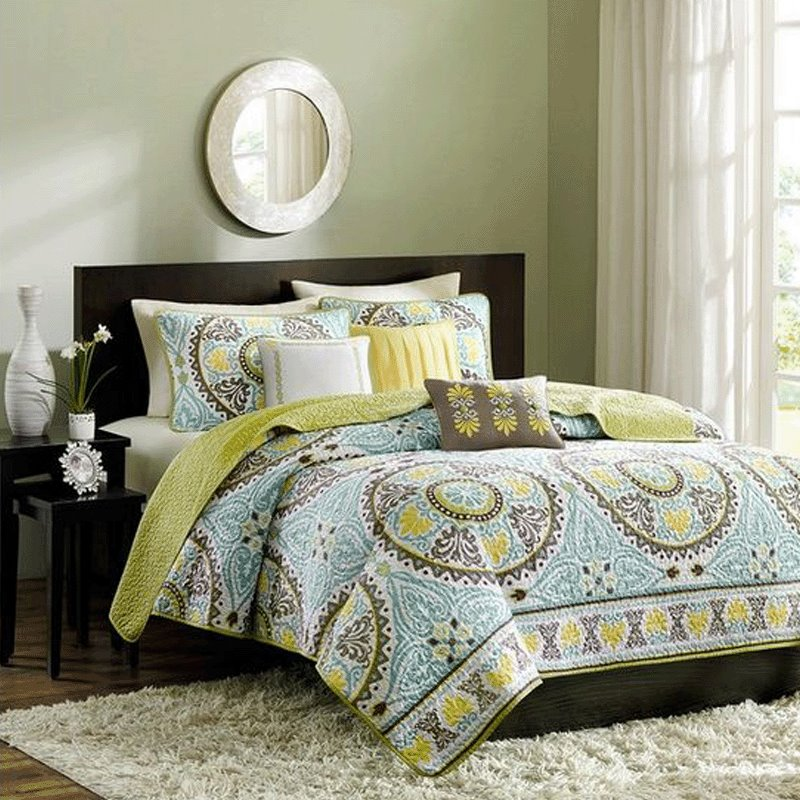 New Arrival European Style Lovely Floral Figures 3-Piece Bed in a Bag Sets