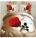 Graceful Single Rose 3D Print 4 Piece Bedding Sets