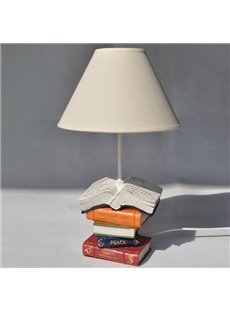 Lovely Piled Books Style Resin Table Lamp