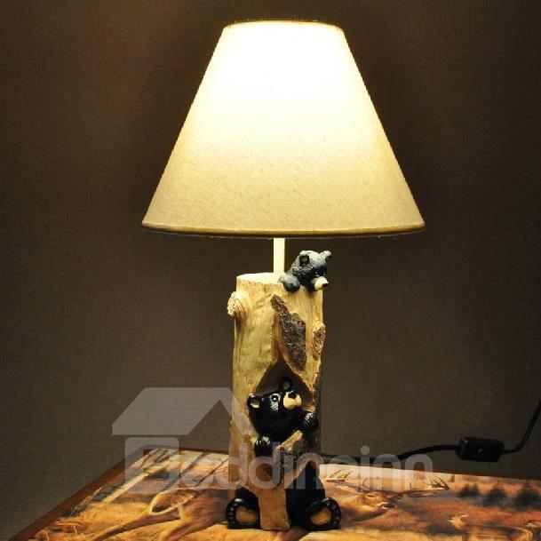New Arrival Lovely Bear Style Resin Table Lamp For Kids