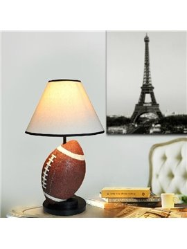 Creative Lovely Rugby Style Resin Table Lamp