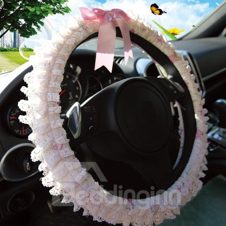New Lovely Princess Style Lace Borders Steering Wheel Cover