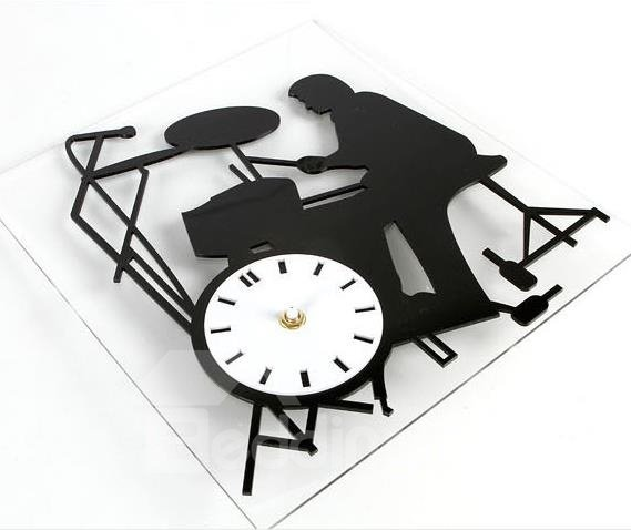 New Arrival Modern Style Rock Musician Design Wall Clock
