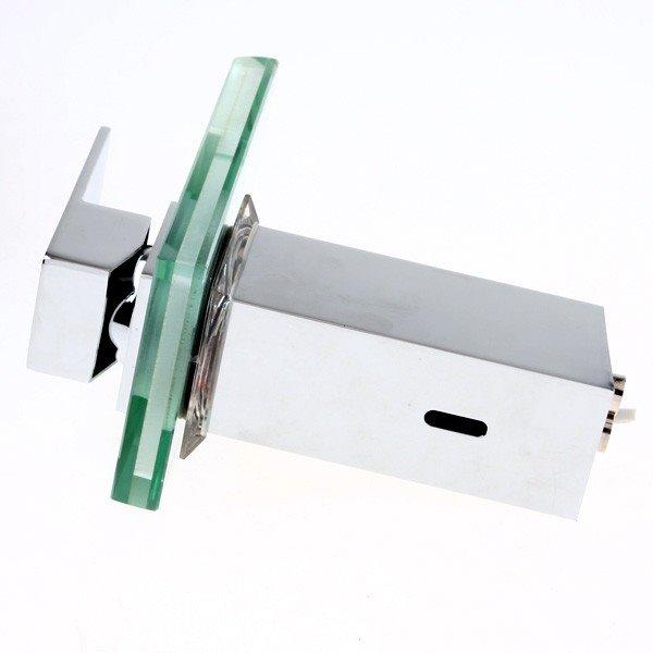 New Arrival Built-in LED Light Temperature Control Luminous Rectangular Handle Bathroom&Kitchen Faucet