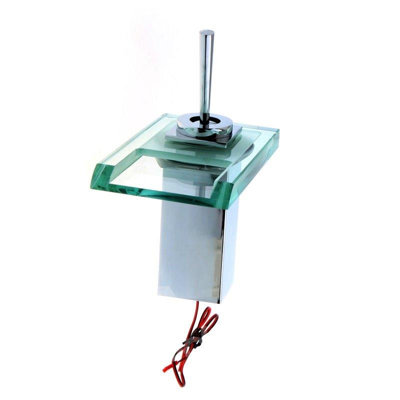 New Arrival Built-in LED Light Temperature Control Luminous Stick Handle Bathroom&Kitchen Faucet