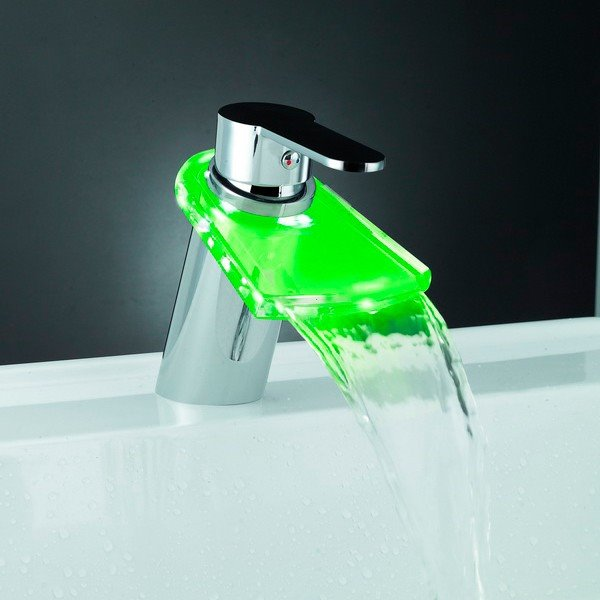 LED Color-changing Temperature Control Luminous Single Handle Bathroom&Kitchen Faucet