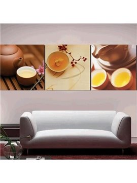 New Arrival Antique Teapot and Cup Sets Print 3-piece Cross Film Wall Art Prints