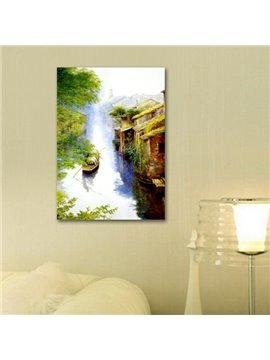 New Arrival Beautiful Boat on the River Waterland Print Cross Film Wall Art Prints