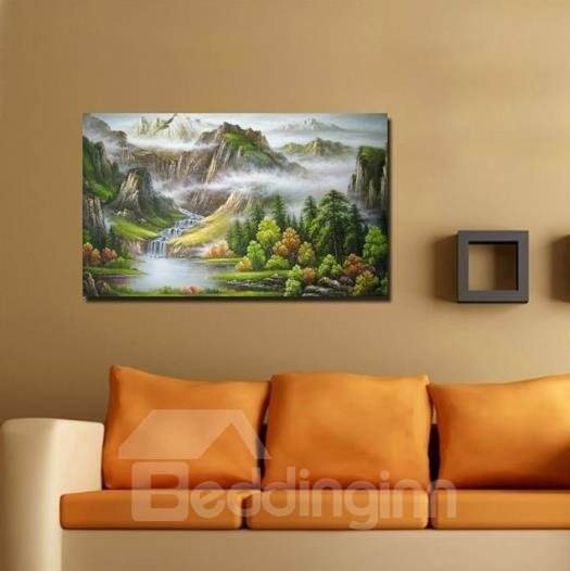 New Arrival Beautiful Valley Scenery Print Cross Film Wall Art Prints