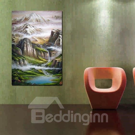 New Arrival Stunning Painted Landscape Print Cross Film Wall Art Prints