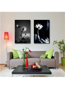 New Arrival Modern Style Beautiful Daisy Print 2-piece Cross Film Wall Art Prints